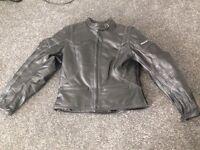 Ladies frank Thomas 'lady rider' leather motorbike jacket