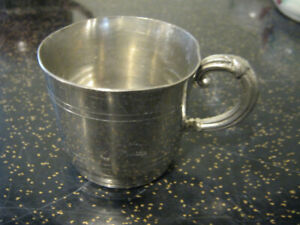 VINTAGE PEWTER BABY'S CUP