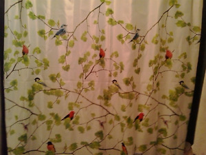 Terrasse Fabric Shower Curtain