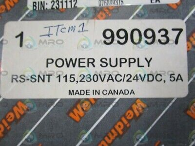 Weidmuller Power Supply Rs-snt-115 New In Box