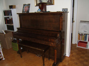 GRAND PIANO ( UPRIGHT FORM) HEINTZMAN & CO