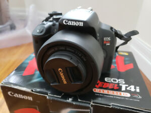 Canon Rebel T4i DSLR +18-55mm, 55-250mm, 50mm f1.8 +Accessories