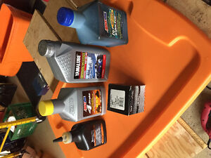 Oils and filter for Yamaha
