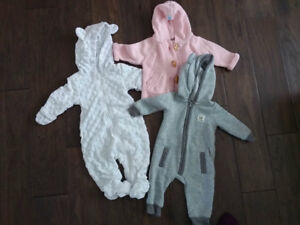 Baby Girl Fall/Winter clothing: 3-6 months