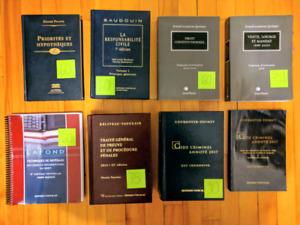 Livres et recueils de droit