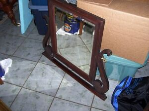 Heavy Bevelled Dresser Mirror
