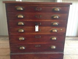 Plan chest / vintage drawers / collectors cabinet