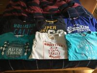 Range of Tshirts (Hollister, Superdry and Abercrombie & Fitch)