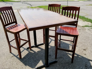 Pub style table with 3 chairs