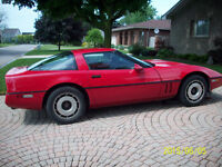 1984 Chevrolet Corvette red Coupe (2 door)