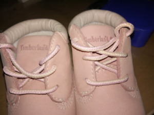 Newborn Timberland shoes and hat
