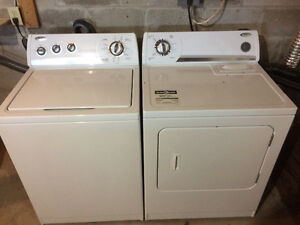 Great condition whirlpool gold. Washer and dryer