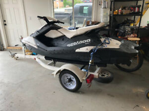 2015 SeaDoo Spark 3up 900 with trailer