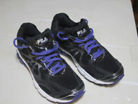 FILA Runners Black and Purple