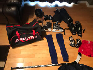 Selling kids hockey equipment