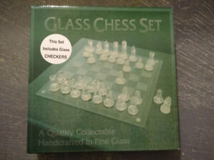 Glass Chess Handcrafted Set - NEW