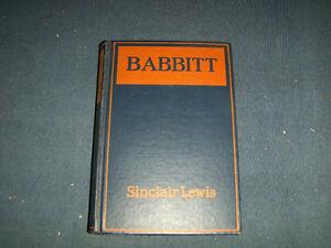 BABBITT-SINCLAIR LEWIS-GROSSET & DUNLAP-1922 EDITION-VINTAGE!