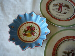 Villeroy & Boch Christmas Plates and Bowl Kitchener / Waterloo Kitchener Area image 1