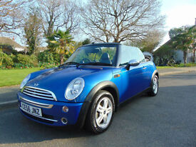 Stunning 2006 Low Mileage Mini 1.6 One Convertible Long MOT Ideal Summer Car