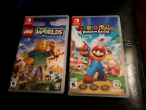 Nintendo Switch Games for trade Lego World and Mario + Rabbids