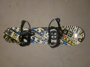 Snow board, boots, helmet and bindings