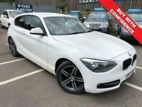 2013 13 BMW 1 SERIES 1.6 114I SPORT 3D 101 BHP WHITE SPORT PETROL