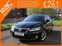2013 Lexus CT CT200h Hybrid Advance Auto Sat Nav Rear Cam Bluetooth Full Leather