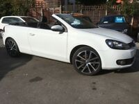 Volkswagen Golf TDi 2.0 TDI GT 2.0 BLUEMOTION TECH S/S CABRIOLET (white) 2014