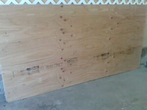 Two 3/4 inch plywood sheets