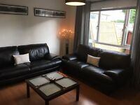 Leather Sofa 3 and 2 Seater VGC from Reids Furniture