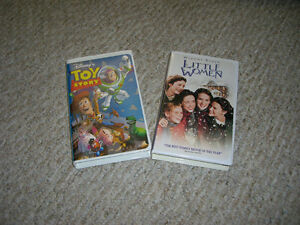 Toy Story and Little Women on VHS