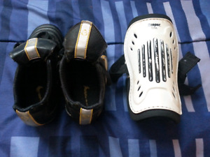 Boys Youth Nike Soccer Cleats and Shin Pads