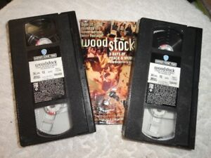 WOODSTOCK: THREE DAYS OF PEACE & MUSIC 1994 2 VHS Tapes