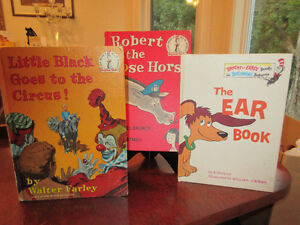 3 Vintage Dr Suess Beginner Readers - Little Black, Robert etc