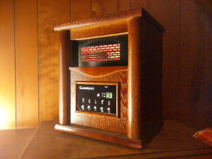 Wood Cabinet Infrared Heater - perfect for basement apartment