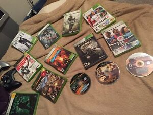Xbox 360 with games and controllers Strathcona County Edmonton Area image 5