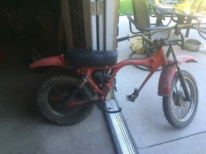 1977 8cc dirt bike frame