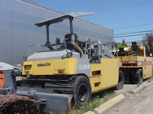 Komatsu JW215 pneumatic 7 wheel compaction roller 10/14 tons, Downtown-West End Greater Vancouver Area image 7