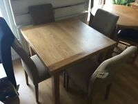 Ex-display/seconds*** Solid oak extendable table and 4 chairs**ONLY £260**