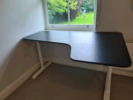 Large Ikea Bekant corner desk