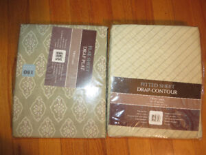 One Flat Sheet & One Fitted Sheet New In Package- Both Twin size