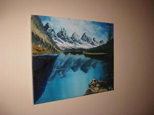 "Lake Louise- original oil painting 16"" x 20"" London Ontario image 3"