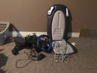 Gaming chair and driving set