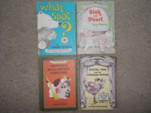 "4 Vintage hard cover ""I Can Read"" Books"
