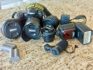 Nikon D300s DSLR Set w/body, lenses, flash and more