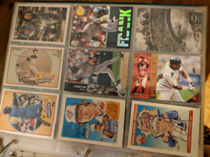 Baseball and set of batman begins cards in mint condition
