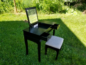 Makeup table and stool