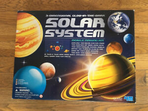 3-D glow in the dark Solar System