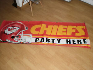 Kansas City Chiefs Party Here Vinyl Banner