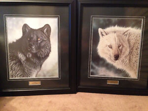 Randy Fehr Wolf Paintings-Price drop